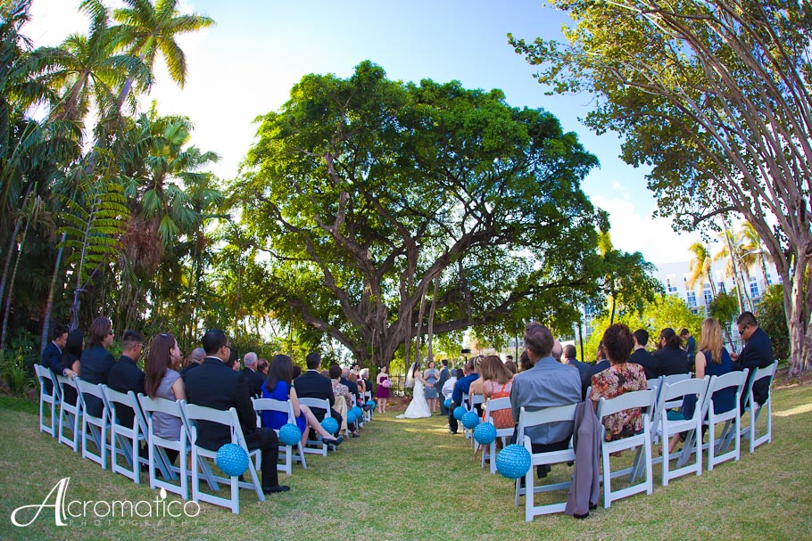 Jennifer danny miami beach botanical garden wedding - Miami beach botanical garden wedding ...